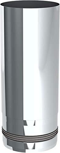 Ofenrohr/Pelletrohr Längenelement mit 250mm Länge und Ø 80mm Durchmesser für Pelletofen, unlackiert