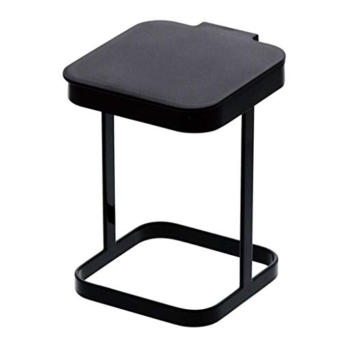 Cttiuliljt Art und Weise kreative Mini Aufsatz- Trash Can Eisen Flip-Cover Zähler Top Trash Can (Color : Black)