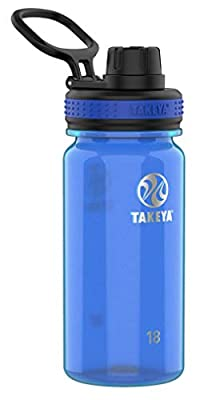 Takeya Tritan Sports Water Bottle with Spout Lid, 18 oz, Royal