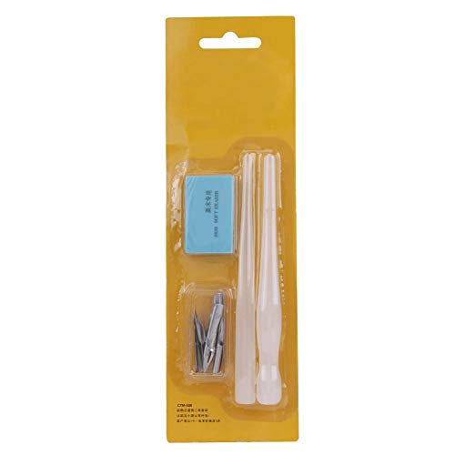 Comic Dip Pen Set Handy Plastic Pen Handle Nib Holder Kit de Dibujo para Dibujos Animados Dibujo Pen Handles Nibs Eraser Set Completo