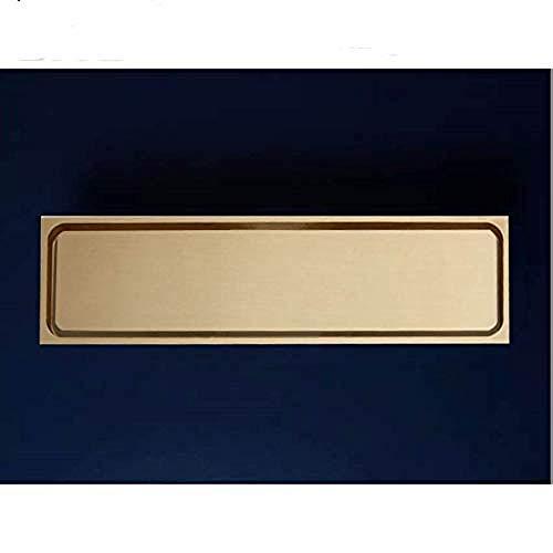 YYALL Drenaje en el piso Alta calidad Cobre puro Latón Oro 300 * 83Mm Baño lineal Drenaje para baño Drenaje en el piso Colador Escurridor