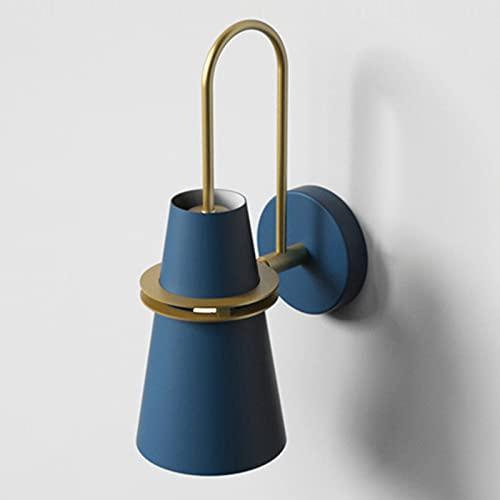 Apliques de pared, lámpara de pared de metal con forma de cuerno moderna,lámpara de pared LED con pantalla de metal hueca y fuente de luz E27,adecuada para decoración de paredes de pasillos interiores