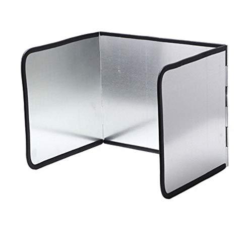 Protector de pantalla para estufa, sartén, sartén de aceite, protector de pantalla plegable, lámina galvanizada – 3 elementos 100 x 30 cm