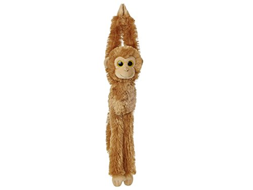 Hanging Chimp Brown 19In Aurora - Chimpancé de Peluche (48,3 cm), Color marrón