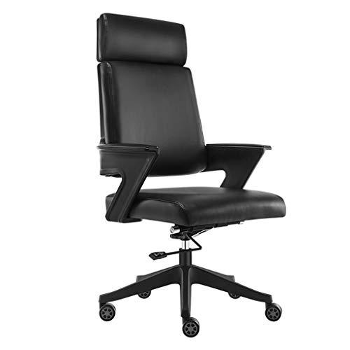 Stoel computer stoel kantoor aan huis zetel bureaustoel thuis computer stoel student stoel katoen stoel stoel leisure boog stoel hoge rug (Color : Black, Size : 65 * 65 * 120cm)