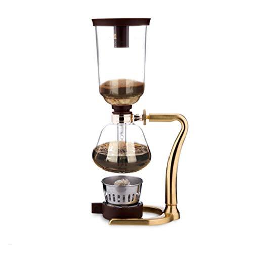 TWDYC Kaffeemaschine manuelle Kaffeekanne Siphon Haushalt Siphon Topf Set Glas Kaffeemaschine Kaffeemaschine manuelle Mühle (Color : B)