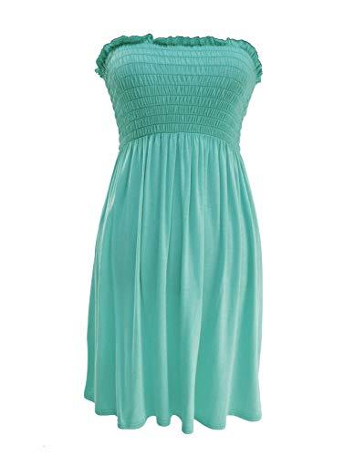 Damen Bandeau-Kleid, trägerlos, kurz, trägerlos Gr. 42/44, mint