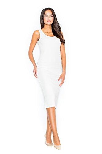 Figl Elegantes Kleid mit breiten Trägern, Größe 36/38, Ecru