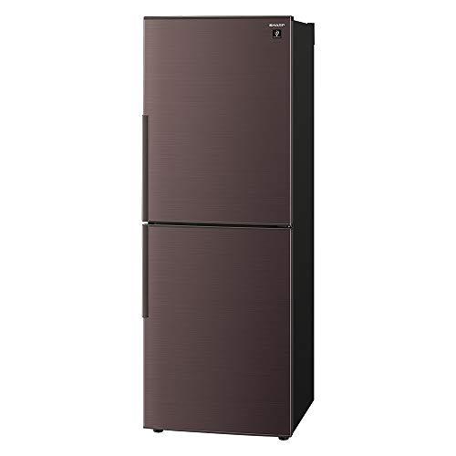 シャープ 冷蔵庫 280L(幅56cm) プラズマクラスター搭載 2ドア メガフリーザー ブラウン SJ-PD28F-T