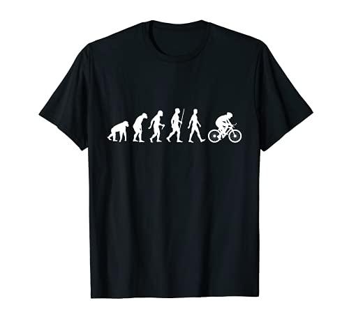 Stampa Bicicletta Evoluzione Ciclista Regalo Ciclismo Maglietta