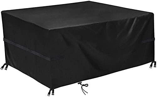 WXHHH Garden Protective Cover,Garden Table Cover- Protective Cover, Furniture Covers Oxford Fabric Waterproof Breathable UV Resistan, for Dining Table Coffee Table Storage Box (280 * 204 * 106cm)