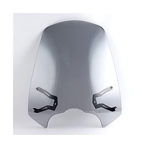 Parabrisas de Motocicletas Deflectores de Viento para Parabrisas de Motocicleta con Soporte para K&awasaki para V&ulcan VN S 650 EN650 2015 2016 2017 2018 2019 2020 Deflector de Viento (Color : B)