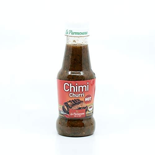 Scharfe Chimichurri Sauce aus Argentinien, Flasche300ml - Chimichurri LA PARMESANA Hot 300ml