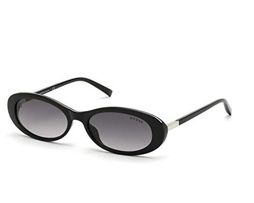 Guess GU-3054-S 01B - Gafas de Sol, Color Negro Brillante y Gris Degradado