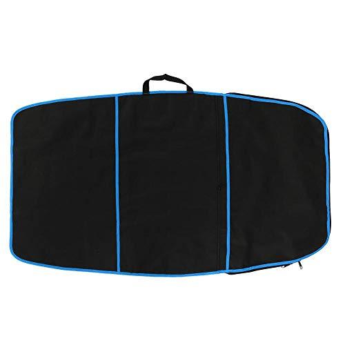 Vobor 3 Farben Langlebige Surfbrett Tasche Bodyboard Tasche Abdeckung Polyester Tragetasche Surfzubehör(Blauer Streifen)