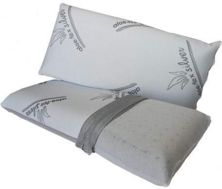 Almohada Viaje (45 CM) VISCO-ELÁSTICA DE Carbono Activo - Tex-Silver -