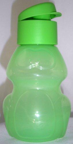 1a TUPPER Trinkflasche Flip Top Flasche FROSCH - 350ml --- grün