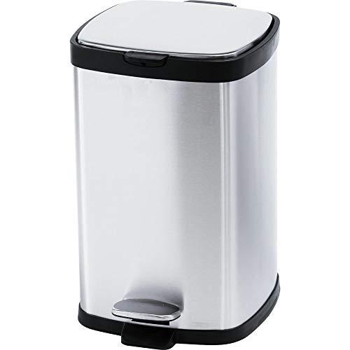 アイリスプラザゴミ箱おしゃれキッチン生ゴミふた付きペダル式12L角型匂いが漏れないステンレスシルバーSTPL-12