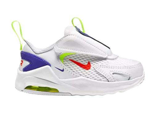 Nike Air MAX Bolt, Zapatillas Unisex niños, White Bright Crimson Volt Indigo Burst, 21 EU