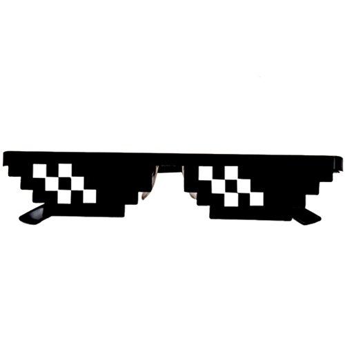 Gusspower Neuheit Sonnenbrille, Thug Life Brille 8 Bit Pixel Deal with it Sonnenbrille Unisex Schutzbrillen Eyewear Spielzeug (2 Mosaik)