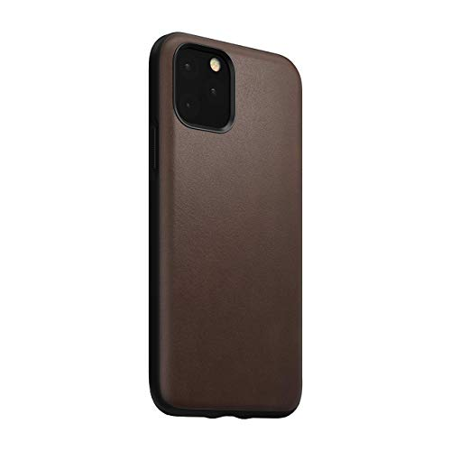 Nomad Rugged Case for iPhone 11 Pro | Rustic Brown Horween Leather