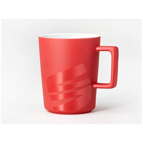 Seat 6H1069601GAD Tasse Kaffeetasse Porzellan Becher, rot