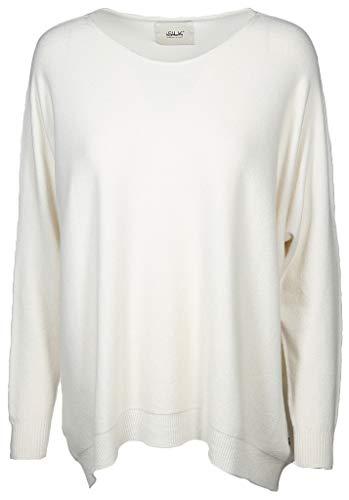 iSilk Damen Pullover Größe L/XL Weiß (weiß)