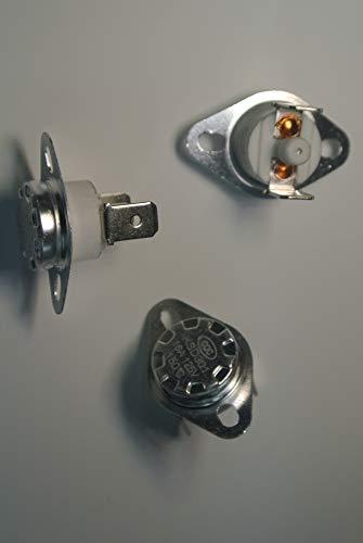 5pcs 150 °C KSD301 NC Manual Reset Bimetal disc Thermostat 16A 125VAC M8-150C-NC16A