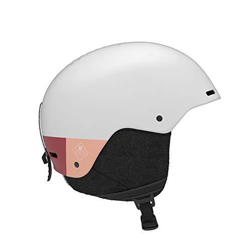 Salomon Damen Ski- und Snowboardhelm, Verstellbare Passform, Größe S, Kopfumfang 53-56 cm, SPELL+, Weiß, L41162200