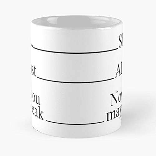 Laarzen Speak Shh Morning You May Measuring Person Almost Lines Coffee Now Die Beste 11 Unzen weiße Marmor Keramik Kaffeetasse