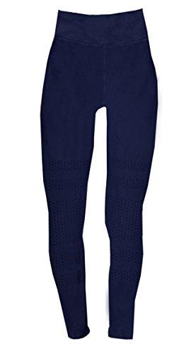 Phat Buddha Blue Textured Capri Leggings XS/S