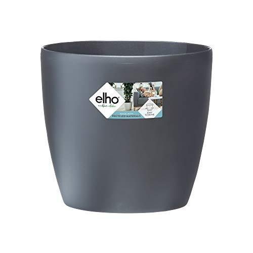 elho brussels Round Wheels 40 Pflanzgefäß – Runder Blumentopf in Anthrazit – Elegantes Extra für den Indoor-Bereich – Ø 39,1 x H 35,9 cm