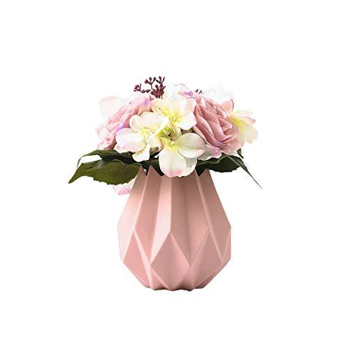 Moderno minimalista ramo de macarons origami floral para vino gabinete de escritorio de moda suave adornos centros de mesa (color: rosa, tamaño: una talla)