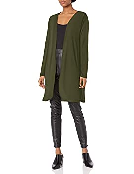 Star Vixen Women s Plus Size Long Sleeve Open Front Cardigan Olive 2X