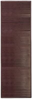 "iDesign Formbu Bamboo Floor Mat Non-Skid, Water-Resistant Runner Rug for Bathroom, Kitchen, Entryway, Hallway, Office, Mudroom, Vanity, 34"" x 21"", Mocha Brown"