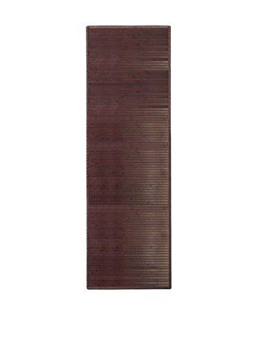 iDesign Tappeto bagno, Tappeto antiscivolo bagno anche per cucina o ingresso impermeabile extra lungo, Tappetino bagno o corridoio in legno di bambù, marrone scuro