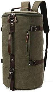 Men women Fashion Big Cylindrical backpack Canvas Leisure Travel Bag computer bag School
