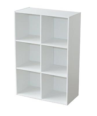 Almacén de cubo Blanco Limpie la superficie de melamina limpia Fácil montaje Acepta múltiples cajas de almacenamiento de color