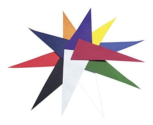 CPE School Specialty Felt Pennants, 9 x 22 Inches, Assorted Colors, 12 Pieces - 075188