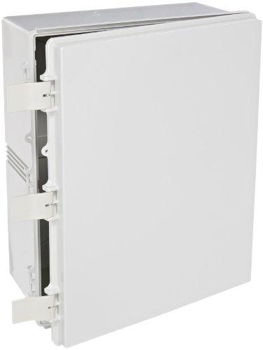 BUD Industries NBF-32334 Plastic Outdoor NEMA Economy Box with Solid Door, 19-43/64