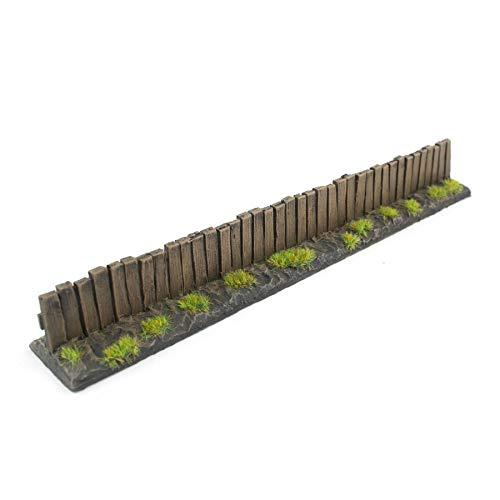 War World Gaming Holzzaun Vorbemalt x 3-20 - 28 mm Tabletop Gelände Modell Miniaturen Diorama Modellbau Miniatur Zaun Mauer Landschaftsbau Landschaft Geländbau