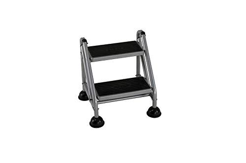 Cosco 2-Step Rolling Step Ladder, Grey