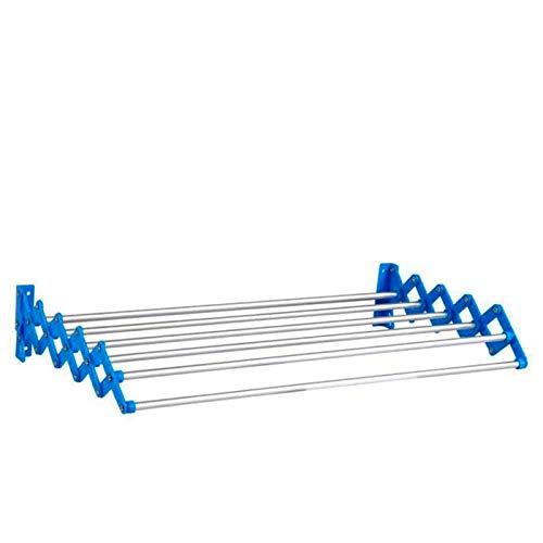 Acan Tendedero Extensible de Pared de Aluminio 4.5 m de tendido Aprox. 70 x 12 cm
