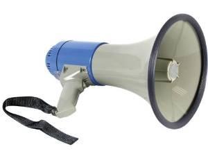 Megafono - Porta voz, 25 W, con sirena y correa