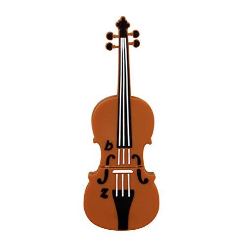 Kentop - Chiavetta USB 2.0 Flash Drive, a forma di violino, PVC, 32gb, 32GB