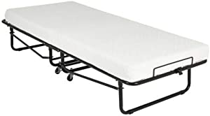 """Asaren Folding Guest Bed Portable Rollaway Bed with 4"""" Foam Mattress Featuring a Super Strong Sturdy Frame for Spare Bedroom & Office"""