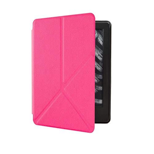 Capa Kindle Paperwhite 10ª geração à prova d'água - Função Liga/Desliga - Fechamento magnético - Origami - Rosa Choque