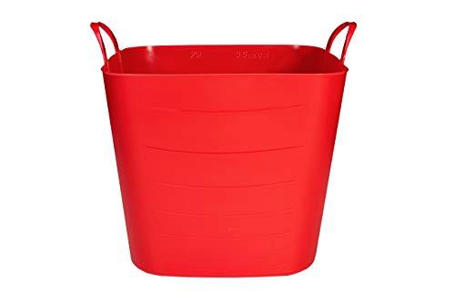 SP Berner - Barreño Grande | Cubo de Plastico con Asas - 40 litros - Rojo