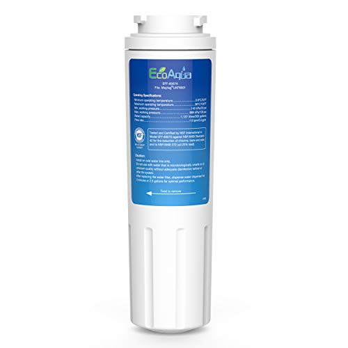 EcoAqua EFF-6007A Wasser-Kühlschrankfilter Kompatibel mit Maytag UKF8001, UKF8001AXX, UKF8001P, WF50, WF51, WF50-NI300, EDR4RXD1, Whirlpool 4396395, Kenmore 9006, 46-9006, KitchenAid 4396548 (1)