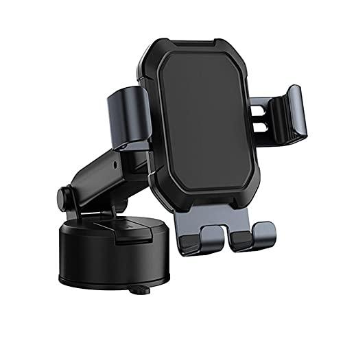 KDABJD Soporte para teléfono de coche, gravedad coche teléfono titular ventosa soporte ajustable, marco portátil ventosa parabrisas, piezas de automóvil